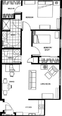 Lauren - Two Bedroom Floorplan