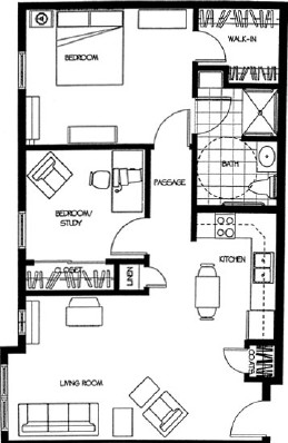 Nicole - Two Bedroom Floorplan