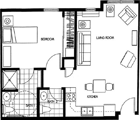 Renae - One Bedroom Floorplan