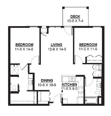 Sorghum - Two Bedroom Floorplan