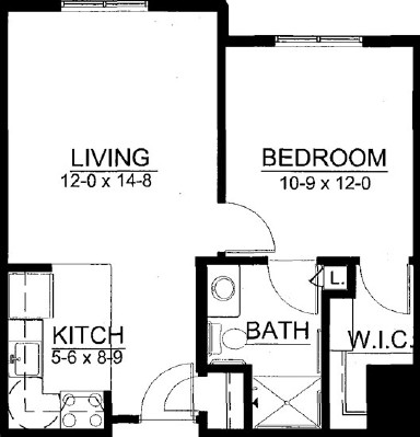 Carib - One Bedroom Floorplan