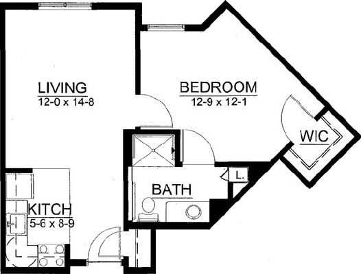 Galetta - One Bedroom Floorplan