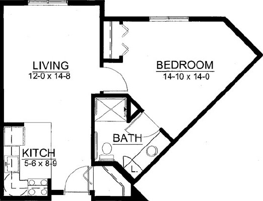 Millet - One Bedroom Floorplan