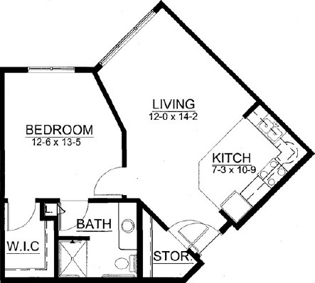 Sawgrass - One Bedroom Floorplan