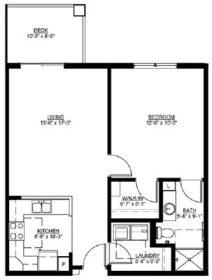 Braeburn - One Bedroom Floorplan