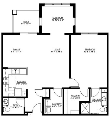 Jonagold - One Bedroom Floorplan