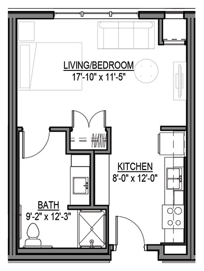 Bison - Studio Floorplan