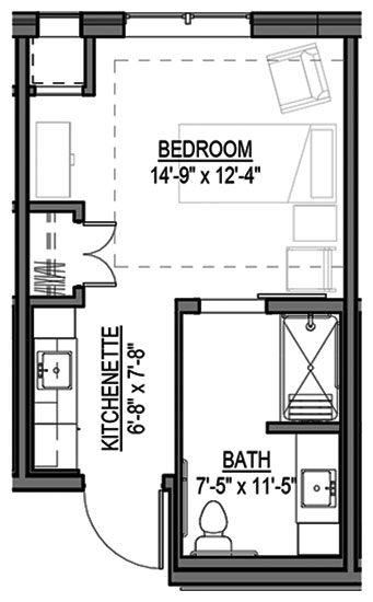 Private Suite - Private Room Floorplan