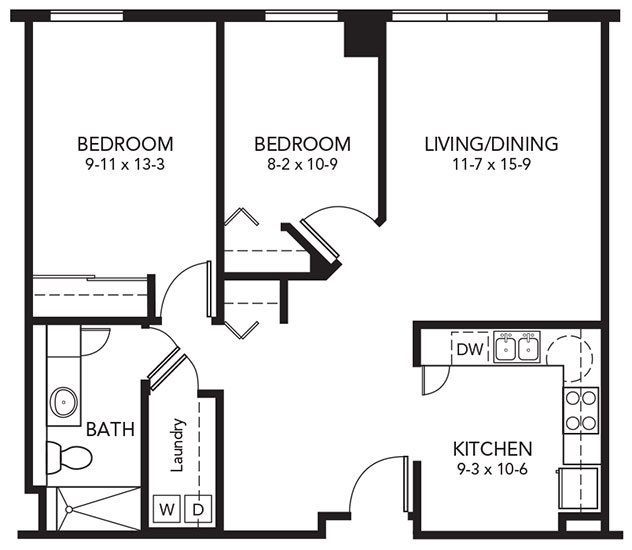 C - Two Bedroom Floorplan