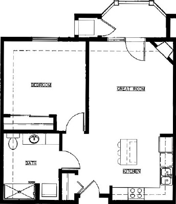 Lilac - One Bedroom Floorplan