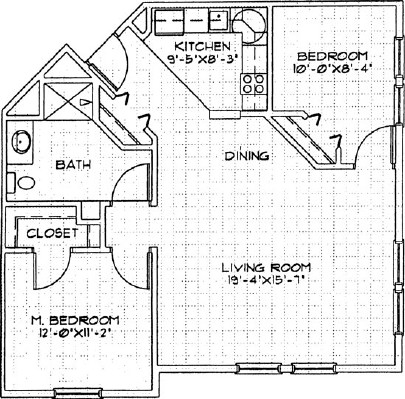 Hollyhock - Two Bedroom Floorplan