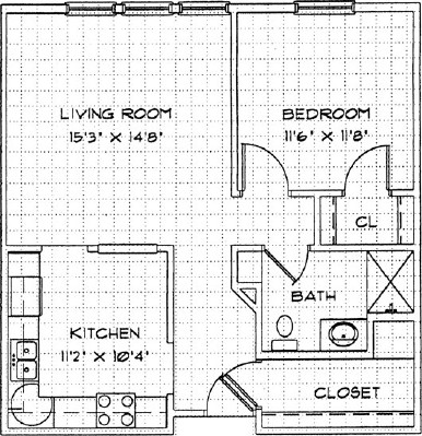 Daffodil - One Bedroom Floorplan