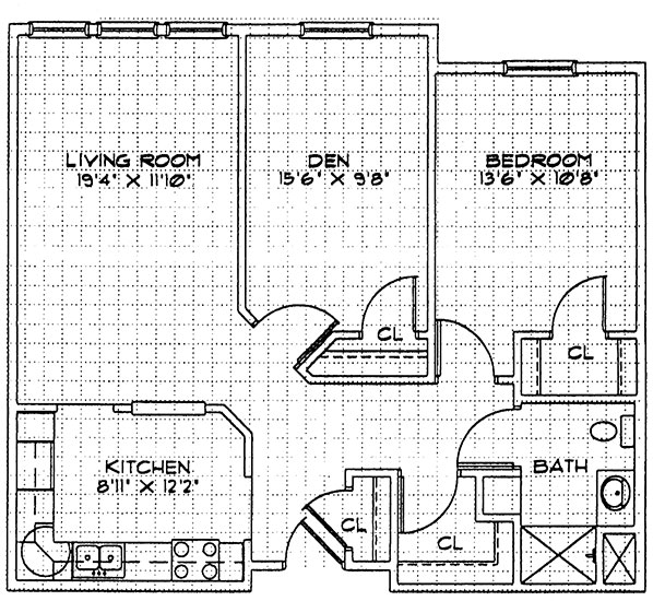 Hibiscus - Two Bedroom Floorplan