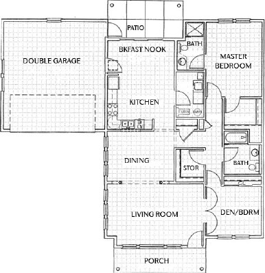 Townhome - Two Bedroom Floorplan