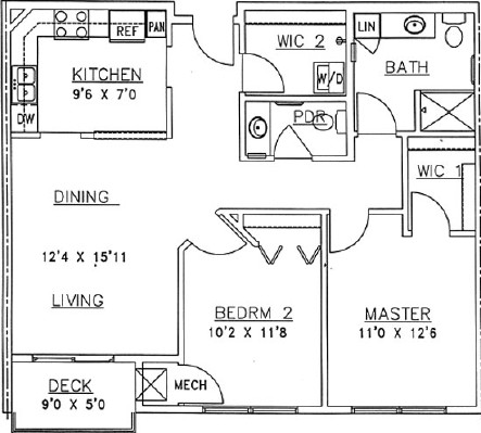 Jack Pine - Two Bedroom Floorplan