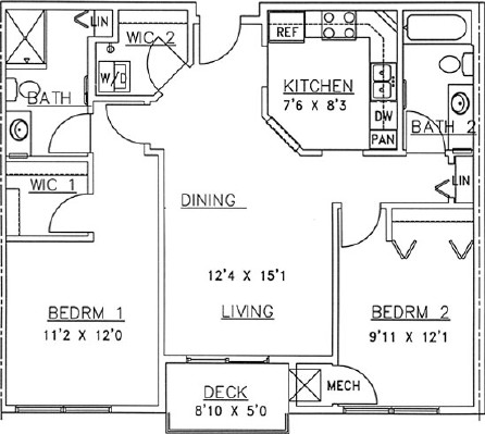 Mountain Ash - Two Bedroom Floorplan