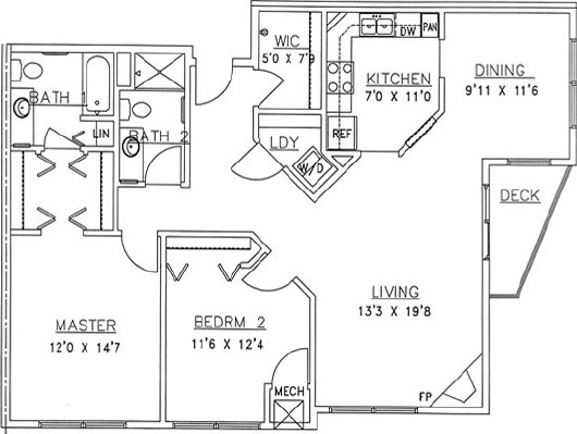 White Birch - Two Bedroom Floorplan