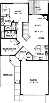 Aspen Walkout - Three Bedroom Floorplan