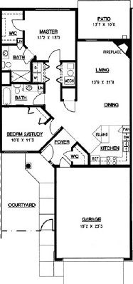 Aspen - Two Bedroom Floorplan