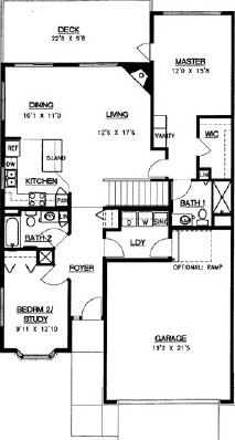 Balsam Walkout - Three Bedroom Floorplan