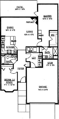 Balsam - Two Bedroom Floorplan