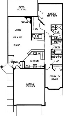 Evergreen - Two Bedroom Floorplan