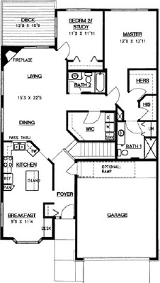 Spruce Walkout - Three Bedroom Floorplan