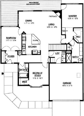 White Pine Walkout - Three Bedroom Floorplan