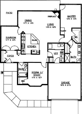 White Pine - Two Bedroom Floorplan
