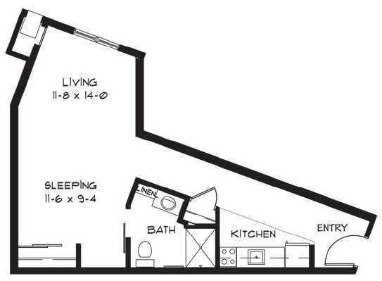 J - Studio Floorplan