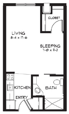 G - Studio Floorplan