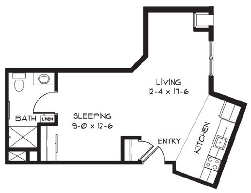 L - Studio Floorplan