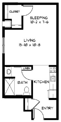 M - Studio Floorplan