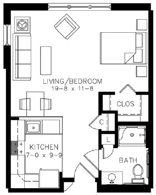 A6HC - Studio Floorplan