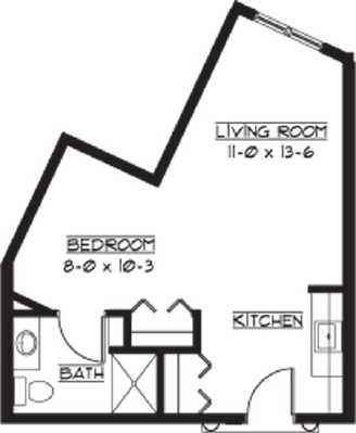 Cumbria - Studio Floorplan