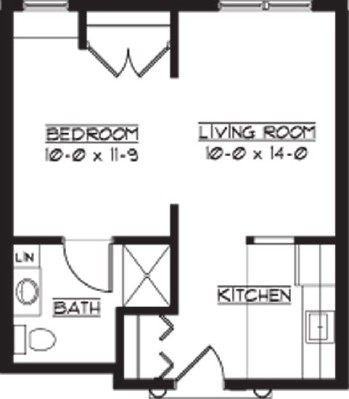 Hampshire - One Bedroom Floorplan