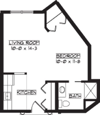 Rutland - Studio Floorplan
