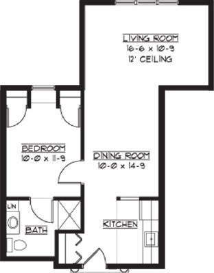 Yorkshire - One Bedroom Floorplan